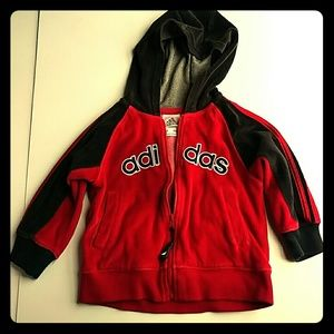 Red and Black 18M Adidas Hoodie